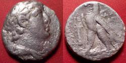 Ancient Coins - DEMETRIOS II NIKATOR AR silver tetradrachm. Second reign, 126-125 BC.