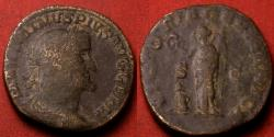 Ancient Coins - MAXIMINUS I THRAX AE sestertius. Victory standing, holding wreath & palm, captive at her feet.