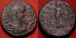 Ancient Coins - SEPTIMIUS SEVERUS AE 26mm. Stobi, Macedon. Victoria/Nike advancing left.