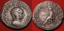 Ancient Coins - JULIA DOMNA AR silver antoninianus. Venus seated, holding branch & scepter