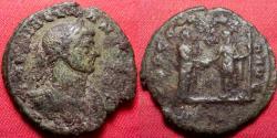 Ancient Coins - AURELIAN AE reduced sestertius. Concordia Aug, Aurelian & Severina clasping hands. Rare denomination.