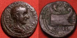 Ancient Coins - GORDIAN III AE 19mm. Colonia Aelia Coela, Thrace. Prow surmounted by cornucopia. Very rare.