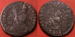 Ancient Coins - CONSTANTIUS II AE 24mm centenionalis. Siscia mint. FEL TEMP REPARATIO, soldier spearing fallen horseman.