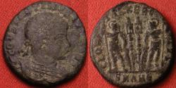 Ancient Coins - CONSTANTINE II CAESAR AE3. Antioch mint. GLORIA EXERCITVS, soldiers & standards.