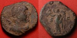 Ancient Coins - VALERIAN I AE sestertius. Victory standing left, holding wreath & palm branch