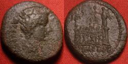 Ancient Coins - TIBERIUS CAESAR AE quadrans. The Altar of Lugdunum, ROM ET AVG. Scarce