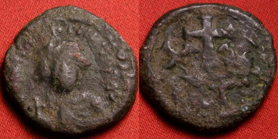 Ancient Coins - CONSTANS II AE half follis. Carthage mint. XX with cross between. Very scarce