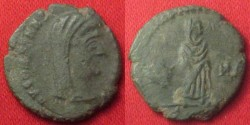 Ancient Coins - DIVUS CONSTANTINE I THE GREAT AE4. Memorial issue, 347-348 AD. Veiled Constantine, standing.