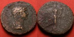 Ancient Coins - TRAJAN AE orichalcum dupondius. Felicitas standing left, holding caduceus & cornucopia.
