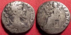 Ancient Coins - SEPTIMIUS SEVERUS AR silver denarius. PACI AETERNAE, Pax seated
