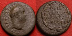 Ancient Coins - TITUS AE 23mm. Cappadocia, Caesarea, under legates Hirrius Fronto & Neratius Pansa. Legend in wreath. Scarce