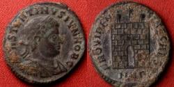Ancient Coins - CONSTANTINE II CAESAR AE3 campgate. Nicomedia mint.