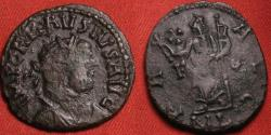 Ancient Coins - CARAUSIUS AE antoninianus. PAX AVG, Pax standing. ML for Londinium mint.