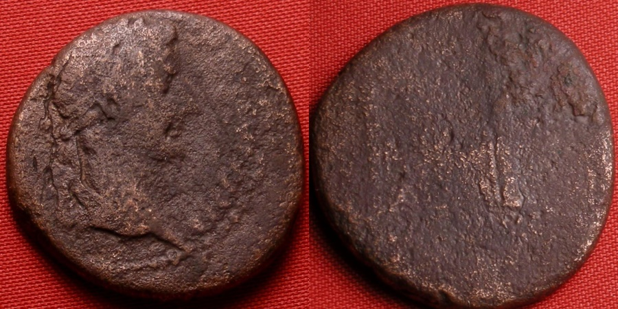Ancient Coins - TIBERIUS, as Caesar, AE as. The Altar of Lugdunum, struck 12-14 AD.