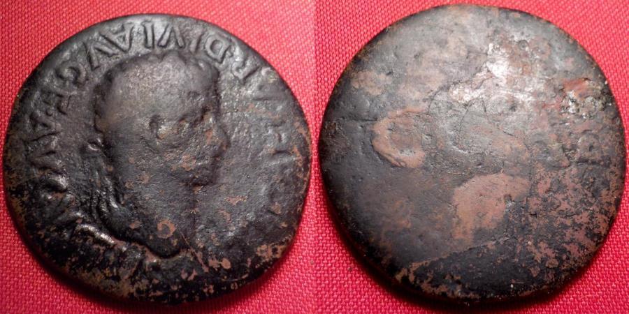 Ancient Coins - TIBERIUS AE 28mm as. Caesaraugusta, Spain. Legend around C C A.