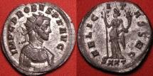 Ancient Coins - PROBUS AE silvered antoninianus. FELICITAS SEC, Felicitas standing, holding caduceus & cornucopia. Ticinum.