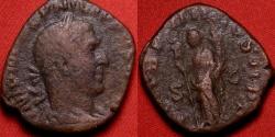 Ancient Coins - PHILIP I THE ARAB AE sestertius. Felicitas standing, holding caduceus & cornucopia. 247 AD.