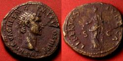 Ancient Coins - NERVA AE dupondius. Rome, 97-98 AD. LIBERTAS PVBLICA.