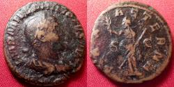 Ancient Coins - PHILIP I THE ARAB AE as. PAX AETERNA, Pax standing, holding branch & scepter.