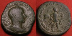 Ancient Coins - GORDIAN III AE sestertius. MARTEM PROPUGNATOREM, Mars advancing right