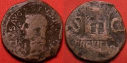 Ancient Coins - DIVUS AUGUSTUS AE as. Struck under Tiberius. PROVIDENT, large altar