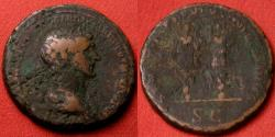 Ancient Coins - TRAJAN AE as. Two trophies, SENATVS POLVLVSQVE ROMANVS
