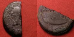 Ancient Coins - DIVUS JULIUS CAESAR (& OCTAVIAN) AE 'half' heavy dupondius. Prow of Galley on reverse. Struck at Colonia Viennensis, 36 BC. Nice Caesar portrait