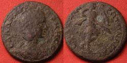 Ancient Coins - SALONINA AUGUSTA AE 26mm. Ephesus, Ionia. Artemis advancing, holding bow & torch. Rare.
