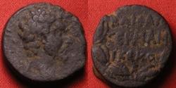 Ancient Coins - MARCUS AURELIUS AE 20mm. GERMANICIA CAESAREA. Legend within wreath. Very rare.