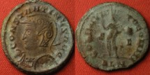 Ancient Coins - CONSTANTINE I THE GREAT AE follis. Londinium mint. Helmeted, left facing bust. R2.