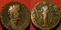 Ancient Coins - MARCUS AURELIUS, as Caesar, AE as. Hilaritas standing.