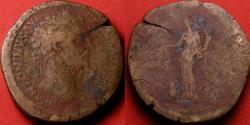 Ancient Coins - MARCUS AURELIUS AE sestertius. Annona standing, modius at her feet.