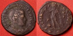 Ancient Coins - CONSTANTINE I THE GREAT AE3 follis. Soli Invicto Comiti, Rome mint. Cross in field