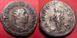 Ancient Coins - PHILIP I THE ARAB silver antoninianus. ANNONA AVGG, Annona standing, holding corn ears over modius.