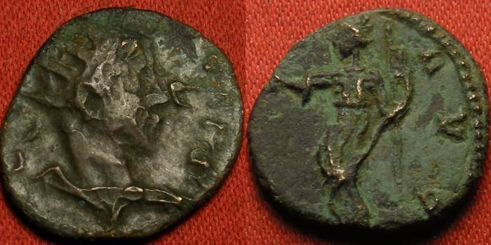 Ancient Coins - TETRICUS II CAESAR AE antoninianus. PAX AVG, Pax standing.