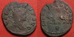Ancient Coins - GALLIENUS AE silvered antoninianus. LIBERO P CONS AVG, Panther walking left.