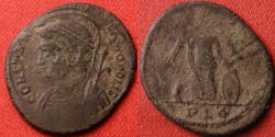 Ancient Coins - CONSTANTINOPLE city commemorative. Lugdunum, Victory standing