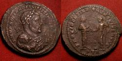 Ancient Coins - MAXIMIANUS AE large follis. Trier. First Abdication commemorative issue. Providentia & Quies standing.