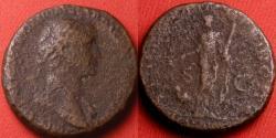 Ancient Coins - TRAJAN AE as. Arabia standing, camel beside her. ARAB ADQVIS