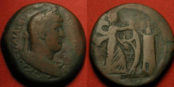 Ancient Coins - HADRIAN AE drachm. Alexandria, Egypt. Isis Pharia before the Pharos (Lighthouse of Alexandria). Scarce.