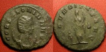 Ancient Coins - SALONINA AE antoninianus. Fecunditas standing beside child.
