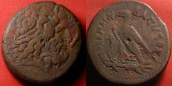 Ancient Coins - PTOLEMY IV PHILOPATOR AE 43mm drachm. Eagle on thunderbolt. 66.3 grams.