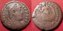 Ancient Coins - VALENS AE3. Siscia mint. SECVRITAS REIPVBLICAE, Victory advancing.