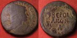 Ancient Coins - TRAJAN AE 25mm. Cyrrhestica, Beroea. Legend in wreath