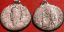 Ancient Coins - GALLIENUS AR silver antoninianus. RESTITVTOR GALIAR, Emperor raising Gallia to her feet. Rare with left facing bust & spear over shoulder