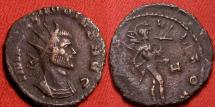Ancient Coins - CLAUDIUS II GOTHICUS AE antoninianus. Rome. MARS VLTOR, Mars advancing, carrying spear & trophy