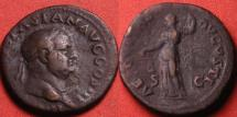 Ancient Coins - VESPASIAN AE as. Aequitas standing, holding scales, struck 71 AD