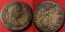 Ancient Coins - CARACALLA AE 22mm. Stobi, Macedonia. Nike advancing right, holding wreath & palm.
