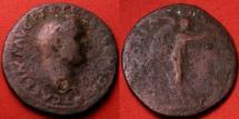 Ancient Coins - TITUS, as Caesar under Vespasian. AE as. VICTORIA NAVALIS, very scarce issue struck at Lugdunum (R2).JUDAEA CAPTA series