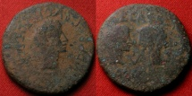 Ancient Coins - AUGUSTUS, with Caius & Lucius Caesar, AE as. Hispania Tarraconensis, Spain.